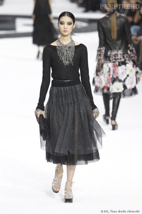 La danseuse sur les podiums 2011 : défilé Chanel printemps-été 2011.
