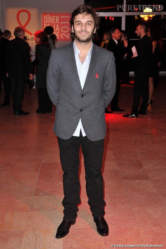 Pio Marmai, gentleman, au dîner du Sidaction le 27 janvier dernier.