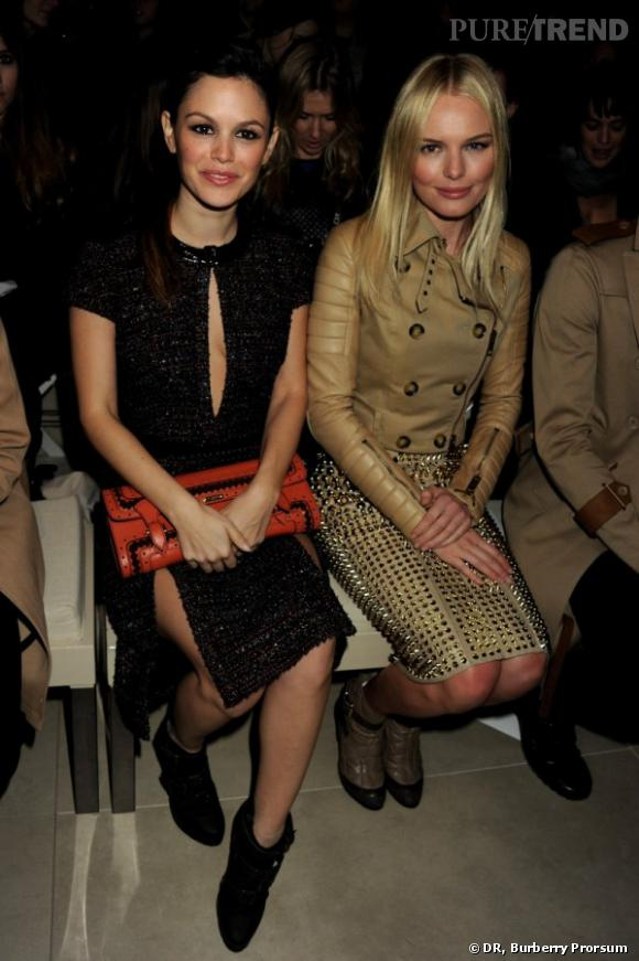 Rachel Bilson et Kate Bosworth au front row de Burberry Prorsum.