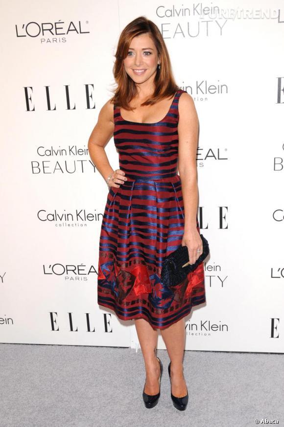Une des dernières apparitions d'Alyson en robe Oscar de la Renta... parfaite !