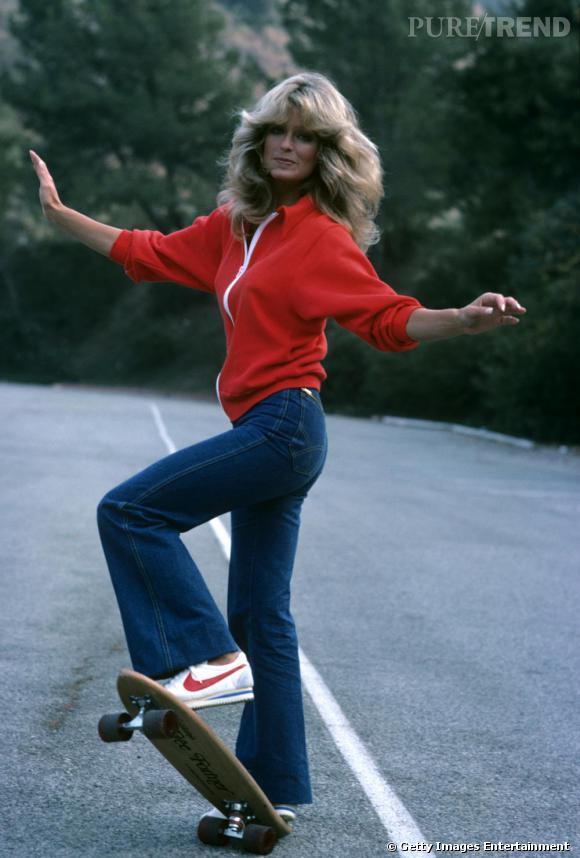 Farrah Fawcett et son jean de drôle de dame parfaitement coupé.