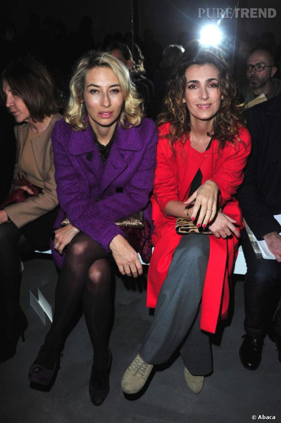 Alexandra Golovanoff et Mademoiselle Agnès, en duo, chez Giambattista Valli.