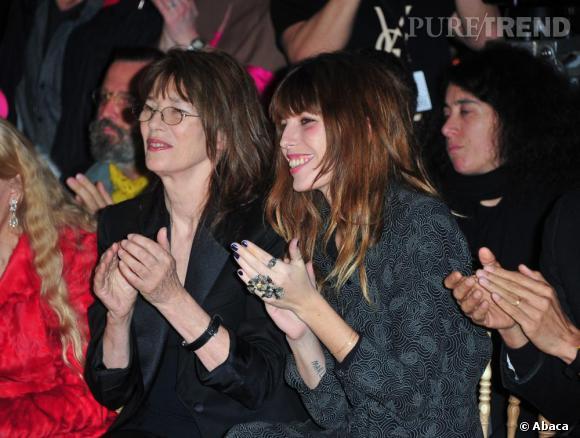 Jane Birkin et Lou Doillon chez Yves Saint Laurent.