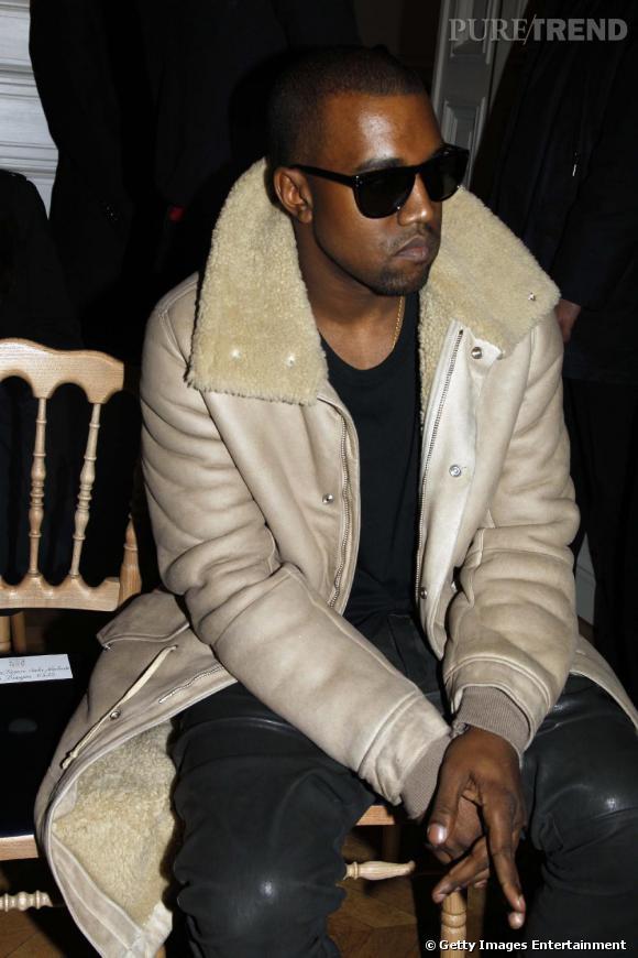 Kanye West chez Yves Saint Laurent.