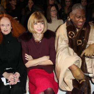 Grace Coddington, Anna Wintour et André Leon Talley de Vogue US chez Chloé.