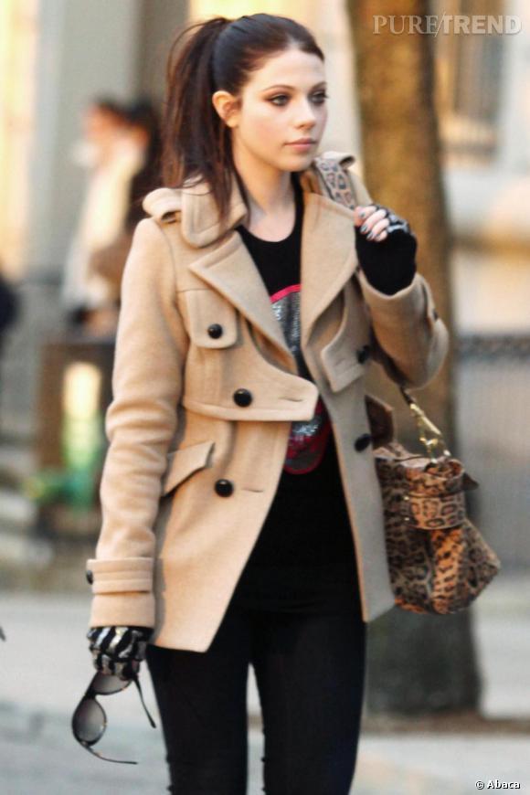 Michelle Trachtenberg sur le tournage de Gossip Girl à New-York.