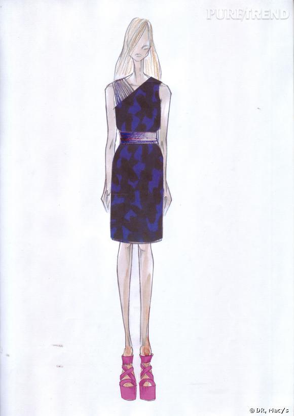 Croquis de la collection Matthew Williamson pour Macy's, printemps-été 2011.