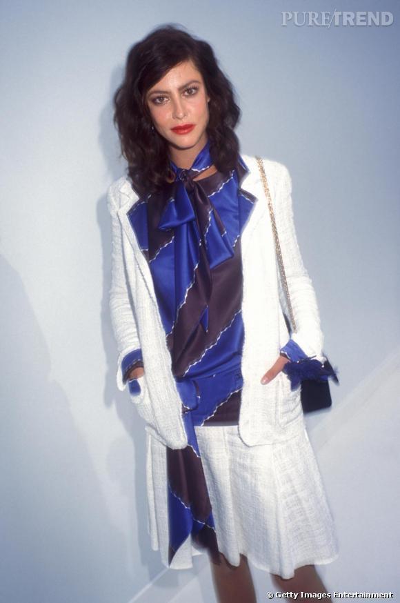 2004 :  Si elle a eu la main forte sur le make-up, et que le top n'arrange rien, Anna Mouglalis reste belle.