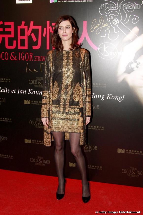 """2010 :  Robe Chanel of course et peu d'accessoires pour l'actrice, partisane du """"less is more""""."""