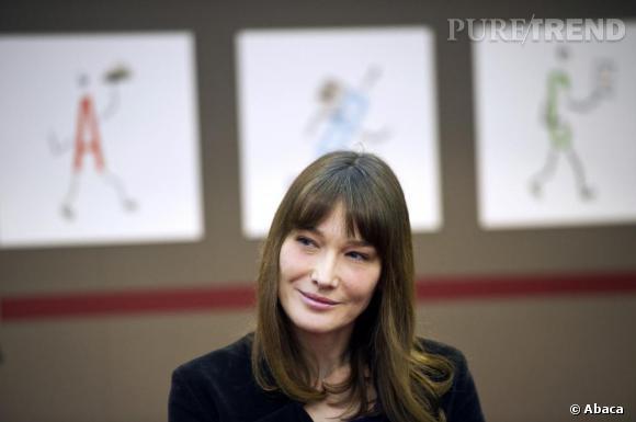 Carla Bruni au Salon du Livre 2011 à Paris.