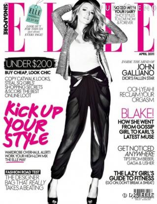 Blake Lively Elle on Blake Lively En Couverture De Elle Singapour Avril 2011