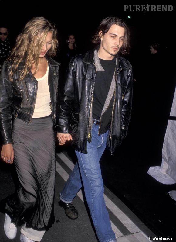 Premiers adeptes du style grunge, Kate Moss et Johnny Depp, la version mode de Kurt et Courtney Love.