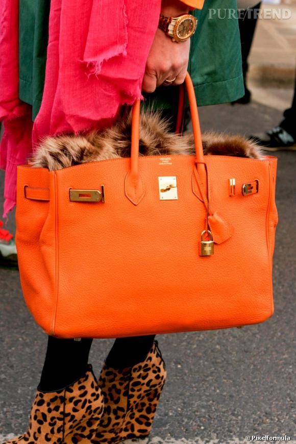 hermes birkin bag price range - Son sac : un Birkin d\u0026#39;Herm��s orange fluo, histoire de changer de l ...
