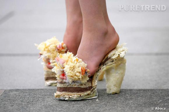 "La chaussure fromage ""Jimmy Cheese"" de Zoe Boulton."