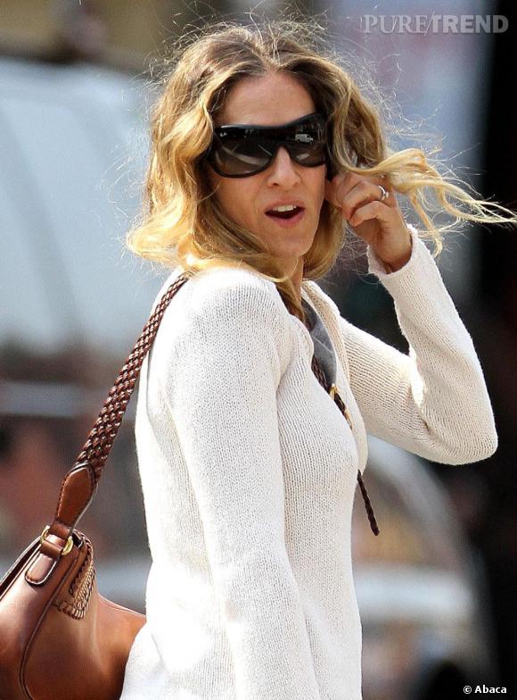 Sarah Jessica Parker en balade dans les rues de New York.