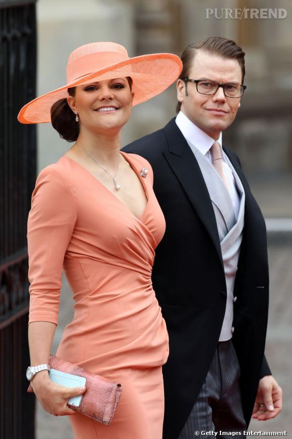 Victoria de Suède au mariage de Kate Middleton et Prince William.