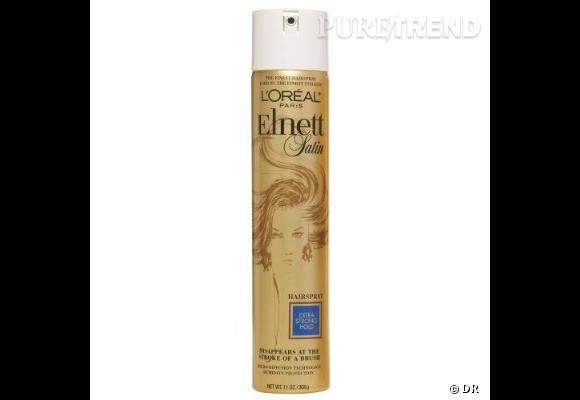 Dans le vanity de Faye Dunaway    Nom :  la laque Elnett de l'Oréal  Pour une crinière domptée au brushing parfait, la laque est devenue l'indispensable du vanity.    Prix :  8.07 €.
