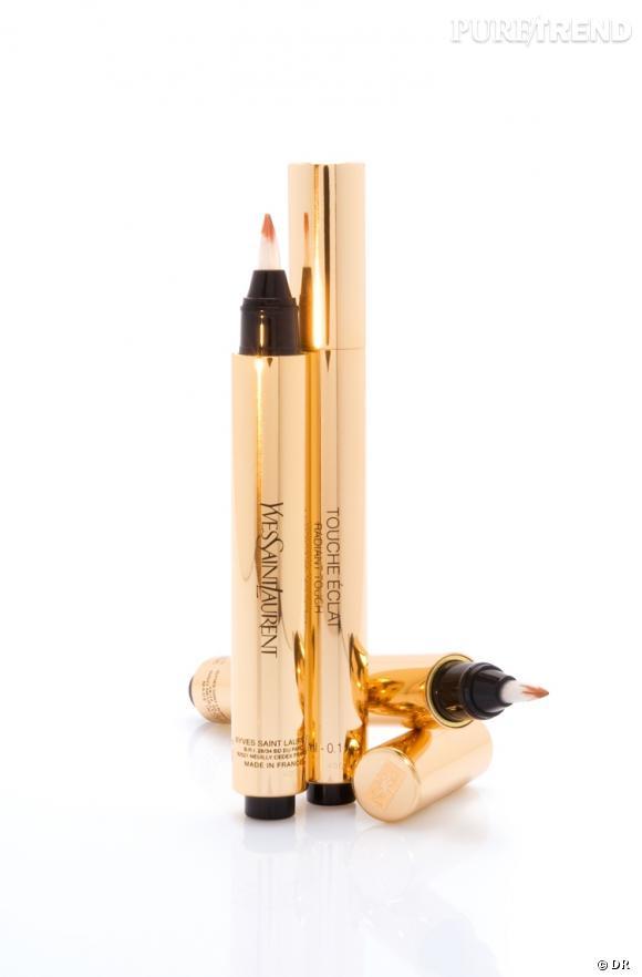 Dans le vanity de Faye Dunaway     Nom :  Touche Éclat d'Yves Saint Laurent   Illuminé, retouché, sublimé, le teint est léger et l'équilibre parfait.    Prix :  35.50 €.