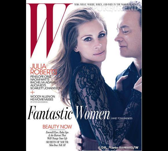 Julia Roberts partage la une du magazine W avec Tom Hanks.
