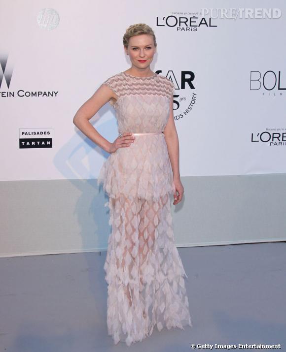 Kirsten Dunst lors du Gala de l'amfAR, à Cannes.