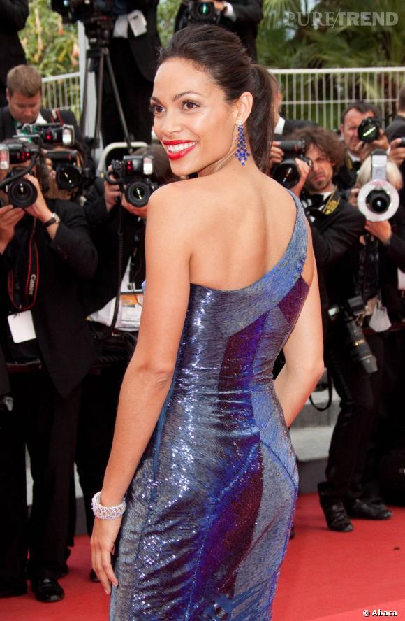 Rosario Dawson à la 64e cérémonie de clôture du festival de Cannes.