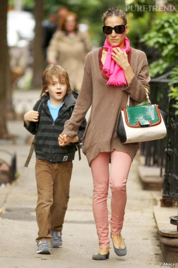 Sarah Jessica Parker dans les rues de New York.