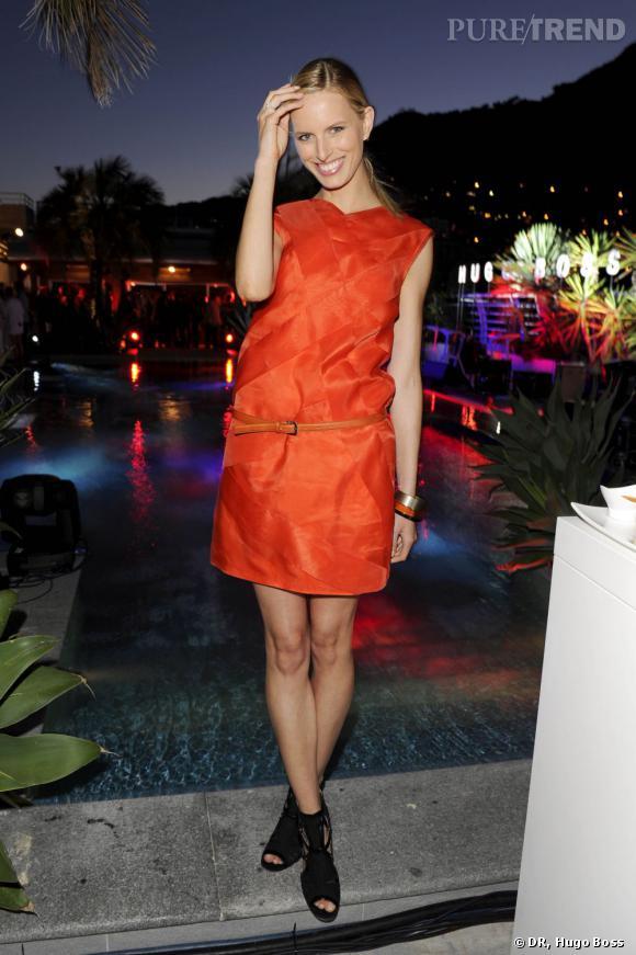 Karolina Kurkova à la soirée des 30 ans de partenariat entre Hugo Boss et McLaren à Monaco.