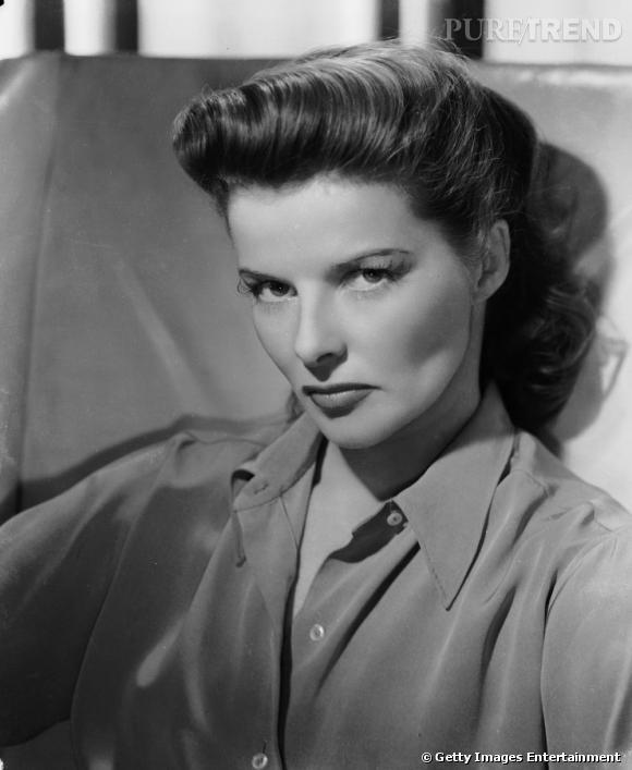 Comment on se coiffait dans les années 40 ?     Nom :  Katharine Hepburn      Coiffure :  la pony tail et la mèche rouleau sur le dessus de la tête.