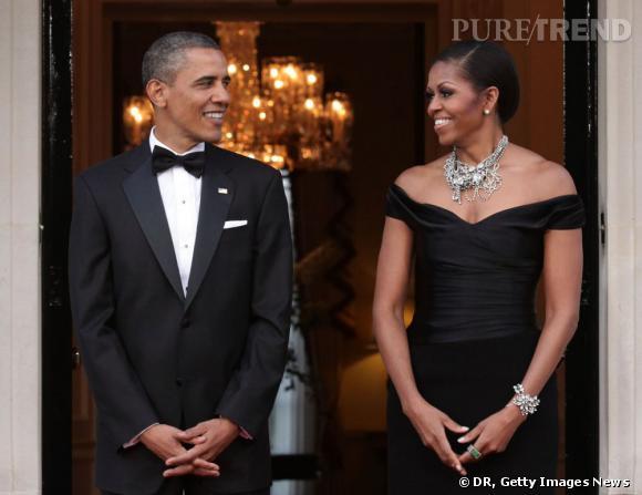Barack et Michelle Obama à Winfield House.
