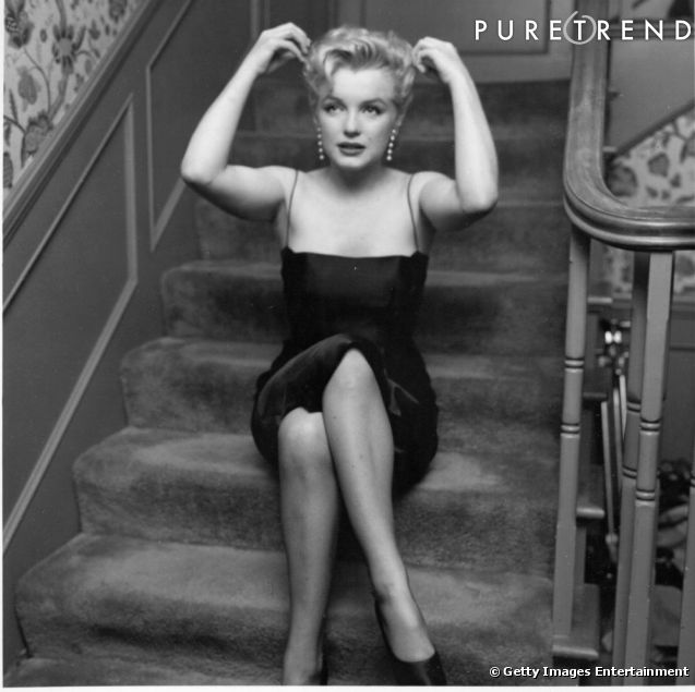 marilyn en petite robe noire pi ce embl matique des ann es 50. Black Bedroom Furniture Sets. Home Design Ideas