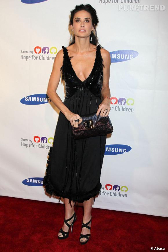 "Demi Moore, brillante lors du gala Samsung ""Hope for Children""."