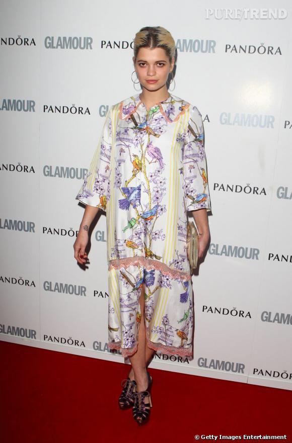 Pixie Geldof, japonisante dans cette robe signée House of Holland, collection 2011.