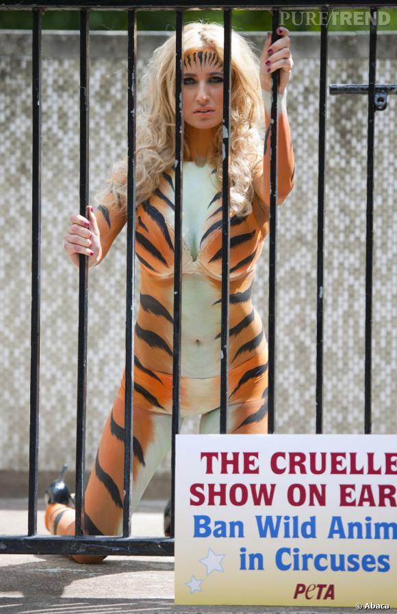 Chantelle Hougton, activiste Peta moche,  c'était mercredi.
