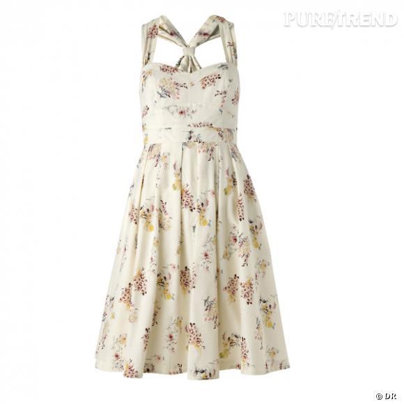 Robe Mango       Une robe légère bien sûr, si possible avec une coupe fifties.       Prix : 59.90€