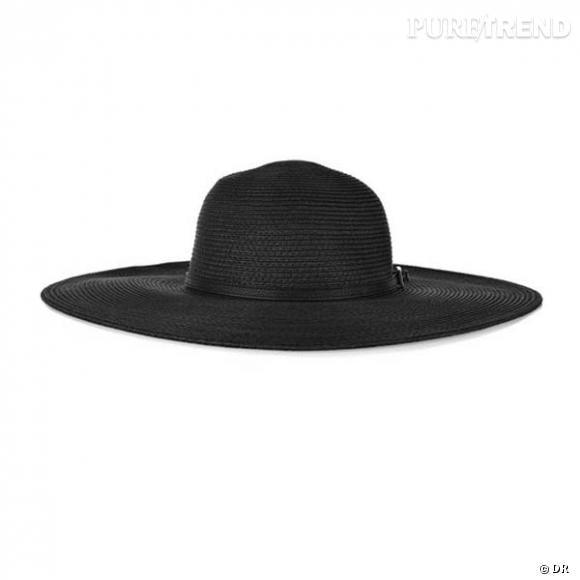 Chapeau Melissa Odabash       Une capeline noire, pour cultiver un air mystérieux sur le sable.       Prix : 106€     En vente sur  www.net-a-porter.com
