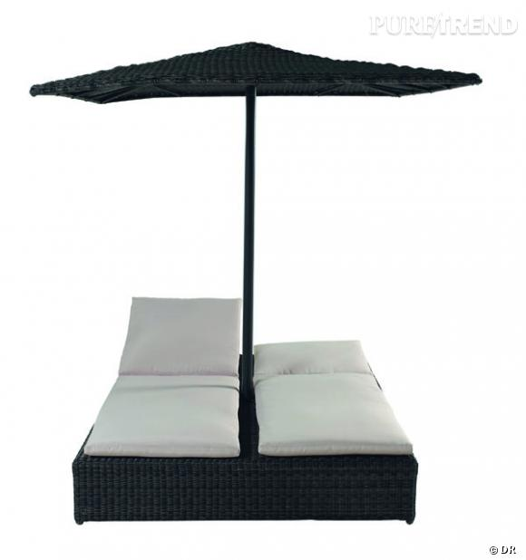 bain de soleil double et parasol maisons du monde une pin. Black Bedroom Furniture Sets. Home Design Ideas