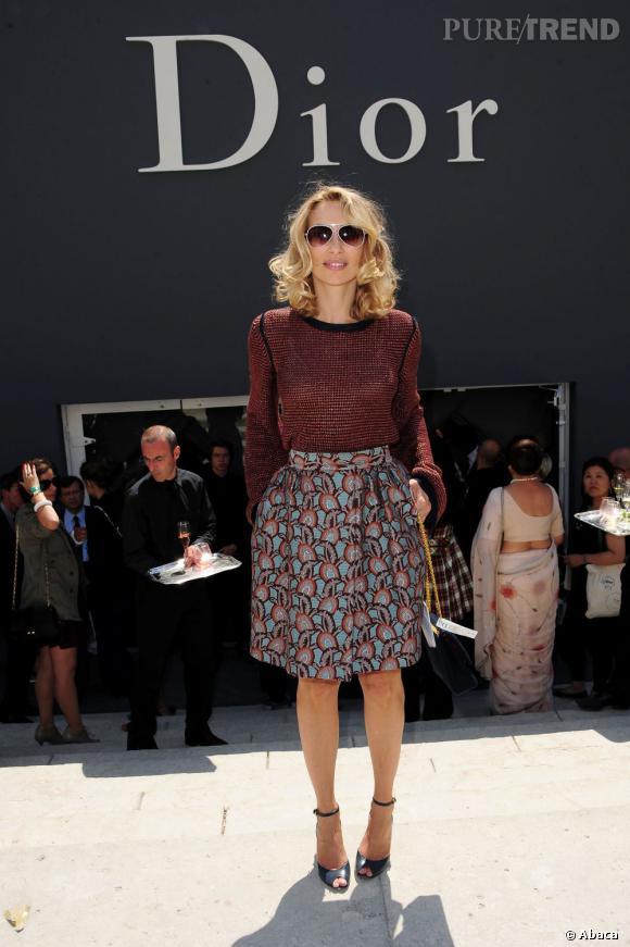 Alexandra Golovanoff au défilé Christian Dior Haute Couture automne-hiver 2011-2012.