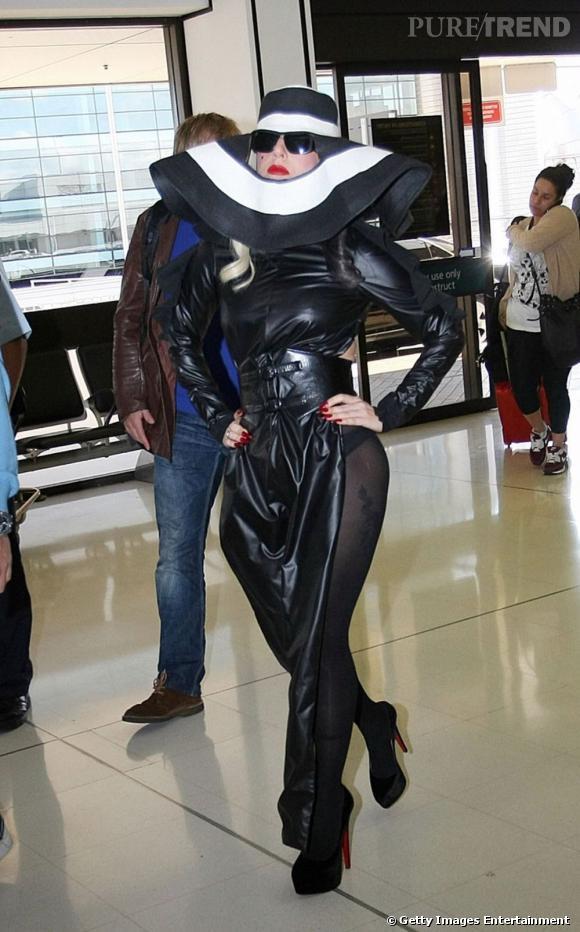 Lady Gaga à l'aéroport de Sydney.