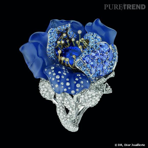 bague diamant bleu nuit