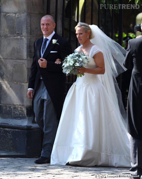 Les mariés, à la sortie de l'église.