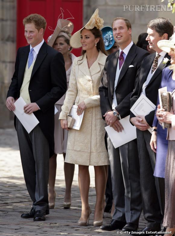 Le Prince Harry, aux côtés de Kate Middleton et de son frère, le Prince William.