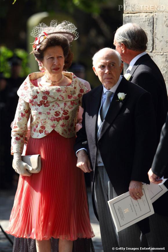 Princesse Anne, fille d'Elizabeth II et mère de la mariée.