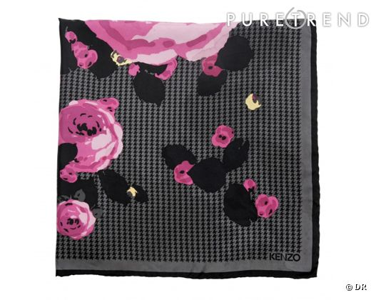 carr de soie kenzo 170 a shoppe ssur. Black Bedroom Furniture Sets. Home Design Ideas