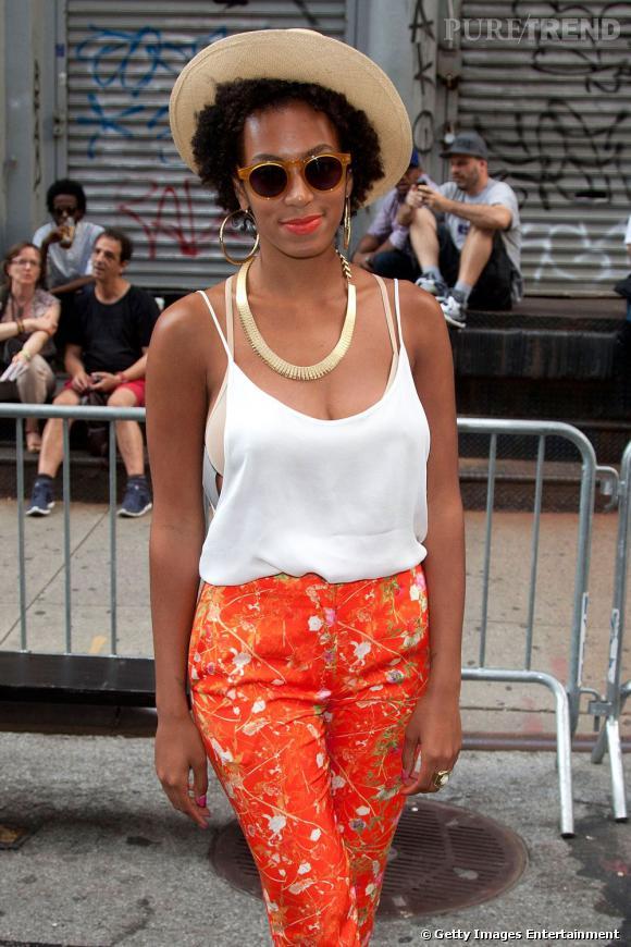 Solange Knowles lors de la block party Bean Pole et Kim Jones à New York.