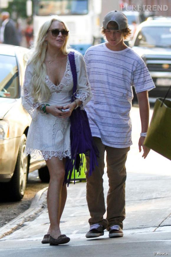Lindsay Lohan dans les rues de New York.