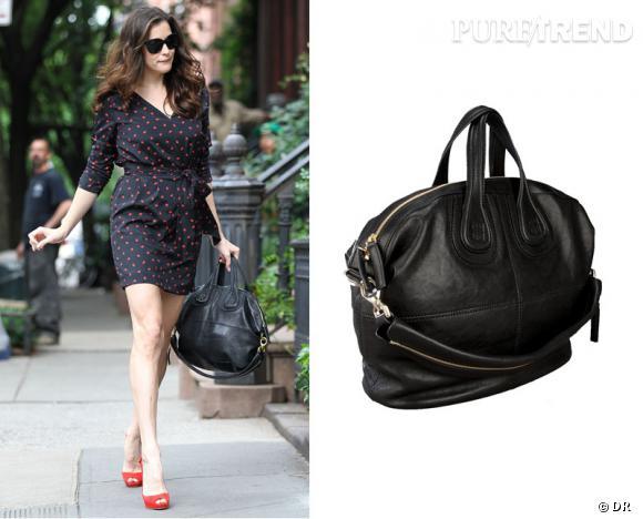 """Le nouveau it-bag de Liv Tyler : le modèle """"Nightingale"""" noir griffé Givenchy."""