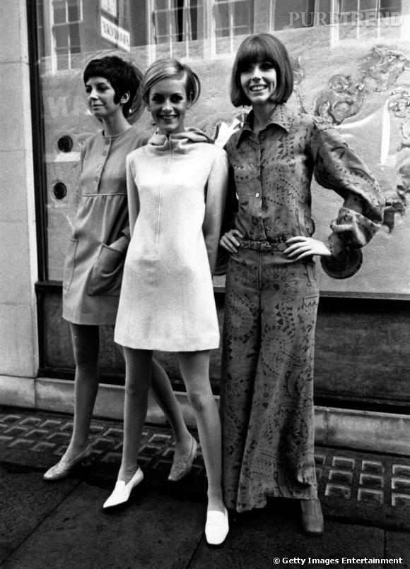 """Après avoir popularisé la """"mod dress"""", Twiggy la revisite version capuche pour sa propre collection."""