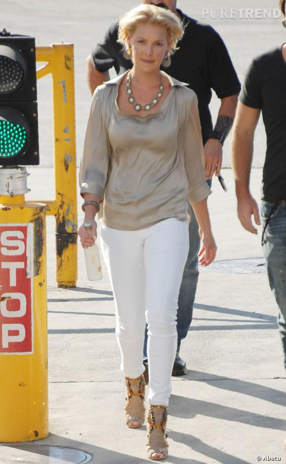Katherine Heigl, chic et branchée pour le concert de son mari au Staples Center de Los Angeles.