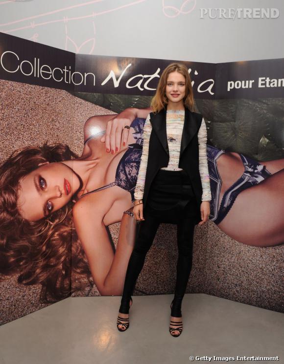 4- Etam  : top model reconnu, c'est par sa collaboration avec Etam que la jeune femme se distingue le plus.