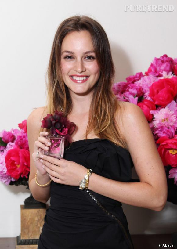 Leighton Meester  adopte le balayage tie-and-dry version discret.